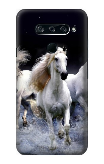 Printed White Horse LG V40 ThinQ Case