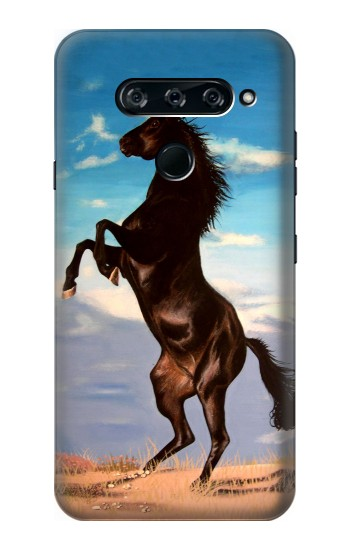 Printed Wild Black Horse LG V40 ThinQ Case