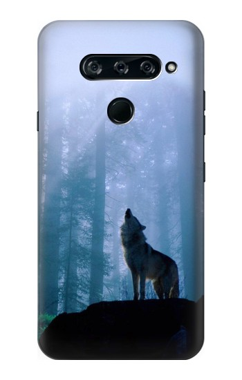 Printed Wolf Howling in Forest LG V40 ThinQ Case