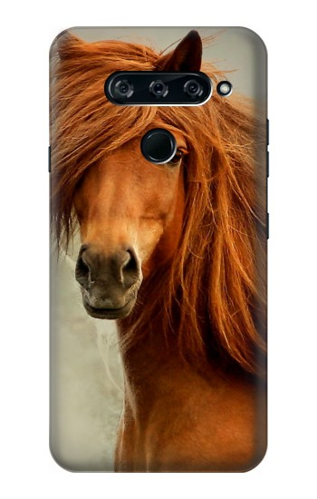 Printed Beautiful Brown Horse LG V40 ThinQ Case