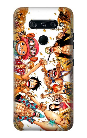 Printed One Piece Straw Hat Luffy Pirate Crew LG V40 ThinQ Case