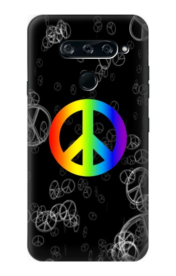 Printed Peace Sign LG V40 ThinQ Case