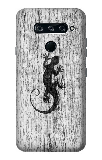 Printed Gecko Wood Graphics Printed LG V40 ThinQ Case