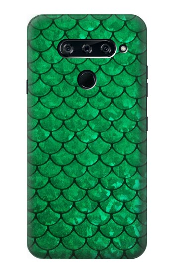 Printed Green Fish Scale Pattern LG V40 ThinQ Case