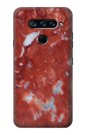 Printed Red Marble Stone Texture Printed LG V40 ThinQ Case