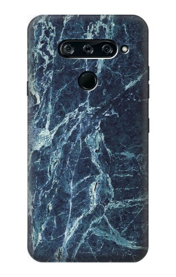 Printed Light Blue Marble Stone Texture Printed LG V40 ThinQ Case