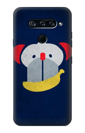 Printed Smiley Monkey Banana Minimalist LG V40 ThinQ Case