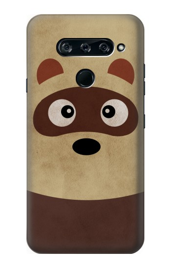 Printed Cute Cartoon Raccoon LG V40 ThinQ Case