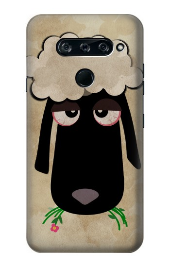 Printed Cute Cartoon Unsleep Black Sheep LG V40 ThinQ Case