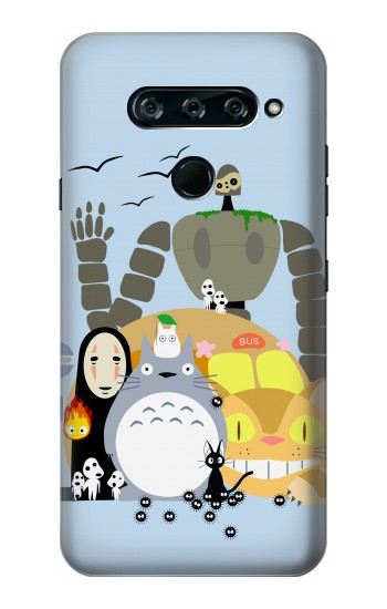 Printed Totoro Cat Bus Laputa Noface and Friends LG V40 ThinQ Case