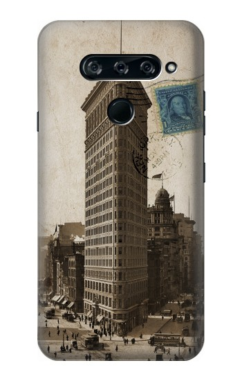 Printed New York 1903 Flatiron Building Postcard LG V40 ThinQ Case
