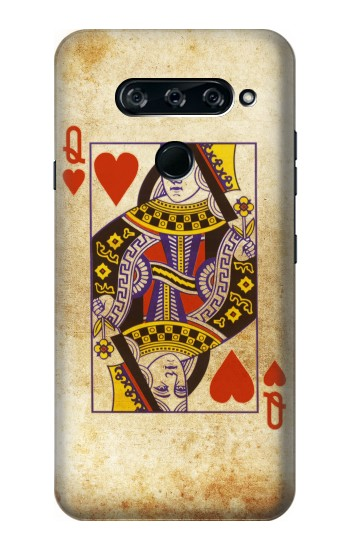 Printed Poker Card Queen Hearts LG V40 ThinQ Case