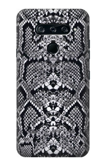 Printed White Rattle Snake Skin LG V40 ThinQ Case