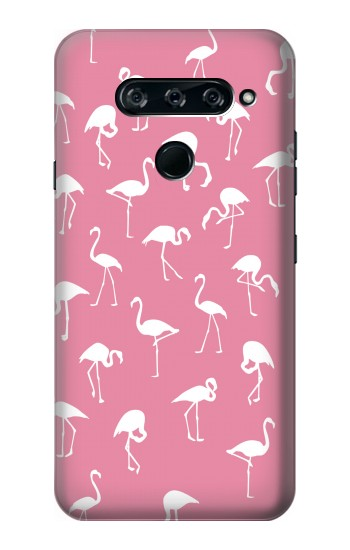 Printed Pink Flamingo Pattern LG V40 ThinQ Case