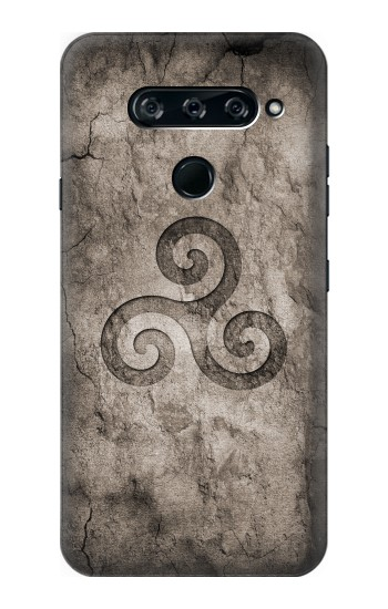 Printed Triskele Symbol Stone Texture LG V40 ThinQ Case