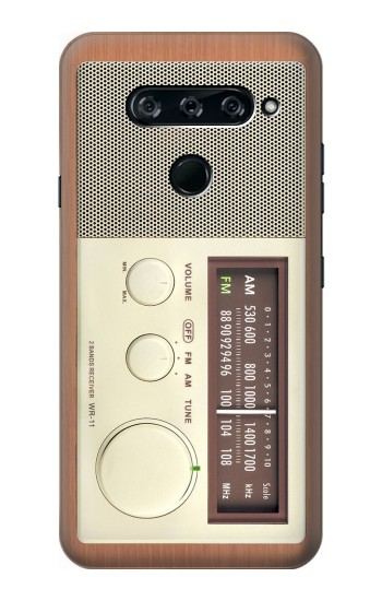 Printed FM AM Wooden Receiver Graphic LG V40 ThinQ Case