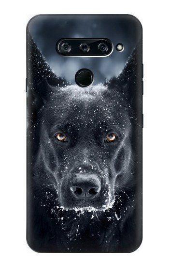 Printed German Shepherd Black Dog LG V40 ThinQ Case