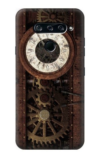 Printed Steampunk Clock Gears LG V40 ThinQ Case