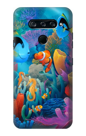 Printed Underwater World Cartoon LG V40 ThinQ Case