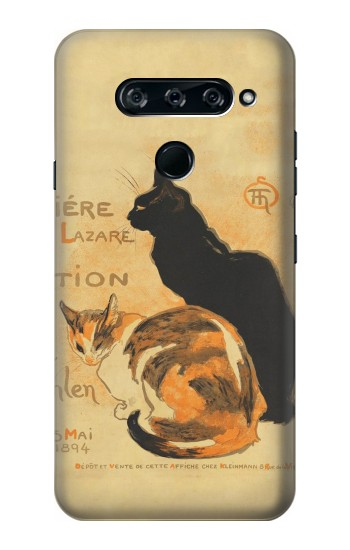 Printed Vintage Cat Poster LG V40 ThinQ Case