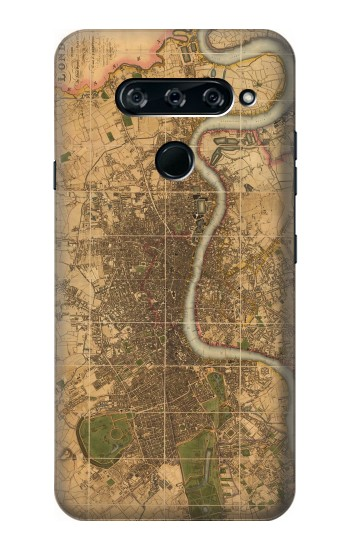 Printed Vintage Map of London LG V40 ThinQ Case