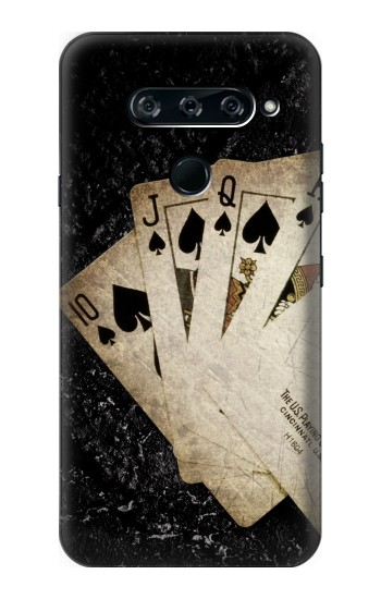 Printed Vintage Royal Straight Flush Cards LG V40 ThinQ Case