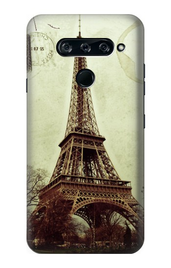 Printed Vintage Tour Eiffel Postcard LG V40 ThinQ Case