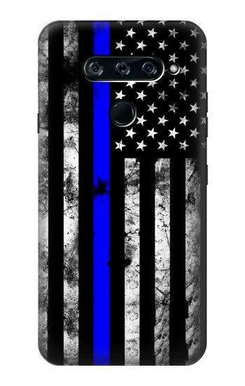 Printed Thin Blue Line USA LG V40 ThinQ Case