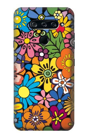Printed Colorful Flowers Pattern LG V40 ThinQ Case