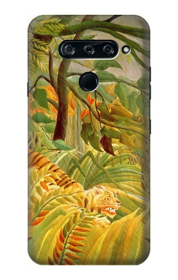 Printed Henri Rousseau Tiger in a Tropical Storm LG V40 ThinQ Case