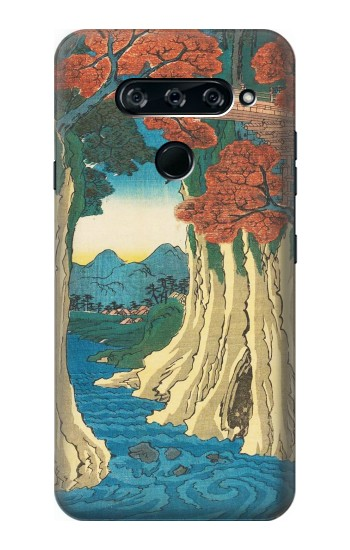 Printed Utagawa Hiroshige The Monkey Bridge in Kai Province LG V40 ThinQ Case