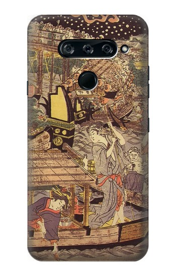 Printed Utagawa Kuniyasu Fireworks at Ryogoku Bridge LG V40 ThinQ Case