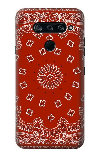 Printed Bandana Red Pattern LG V40 ThinQ Case