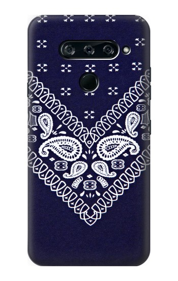 Printed Navy Blue Bandana Pattern LG V40 ThinQ Case