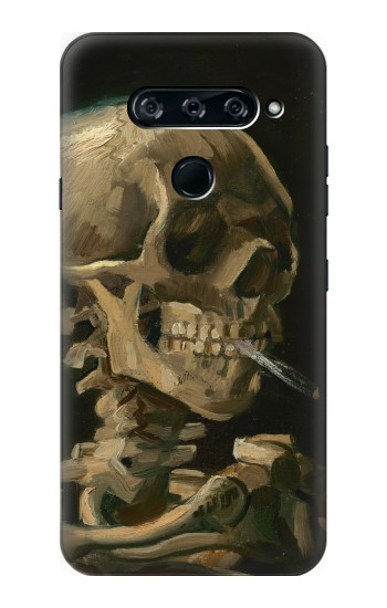 Printed Vincent Van Gogh Head Skeleton Cigarette LG V40 ThinQ Case