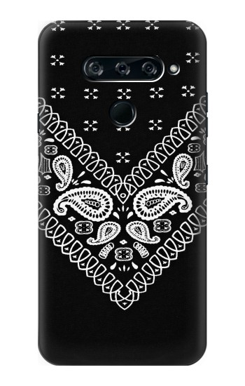 Printed Bandana Black Pattern LG V40 ThinQ Case
