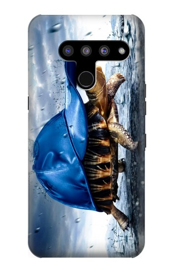 Printed Turtle in the Rain LG V50, LG V50 ThinQ 5G Case