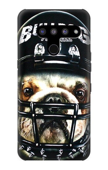 Printed Bulldog American Football LG V50, LG V50 ThinQ 5G Case