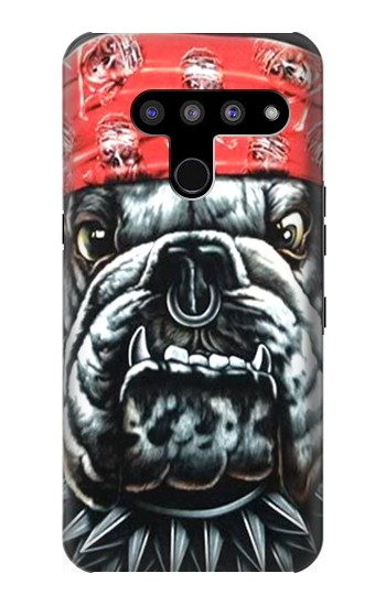 Printed Bulldog Punk Rock LG V50, LG V50 ThinQ 5G Case