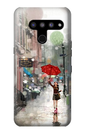 Printed Girl in The Rain LG V50, LG V50 ThinQ 5G Case
