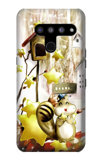Printed Cute Squirrel Cartoon LG V50, LG V50 ThinQ 5G Case