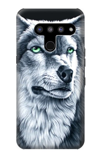 Printed Grim White Wolf LG V50, LG V50 ThinQ 5G Case