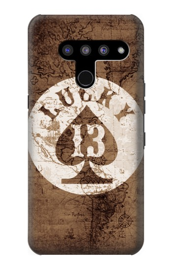 Printed Lucky 13 Old Map LG V50, LG V50 ThinQ 5G Case
