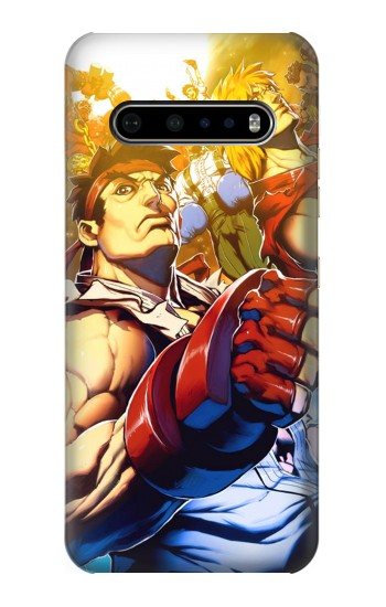 Printed Street Fighter Ryu Ken LG V60 ThinQ 5G Case