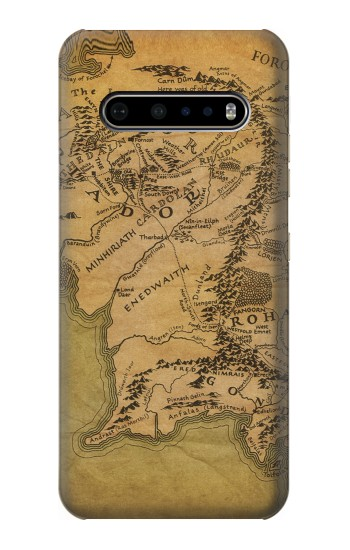 Printed The Lord Of The Rings Middle Earth Map LG V60 ThinQ 5G Case