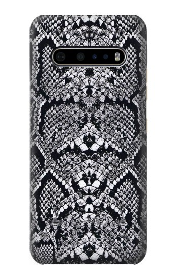Printed White Rattle Snake Skin LG V60 ThinQ 5G Case