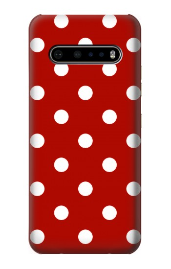 Printed Red Polka Dots LG V60 ThinQ 5G Case
