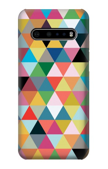 Printed Triangles Vibrant Colors LG V60 ThinQ 5G Case