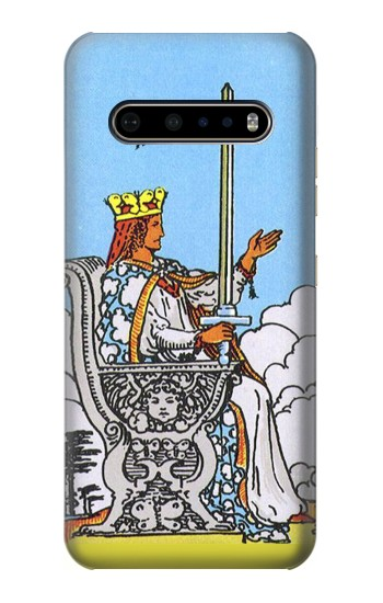 Printed Tarot Card Queen of Swords LG V60 ThinQ 5G Case