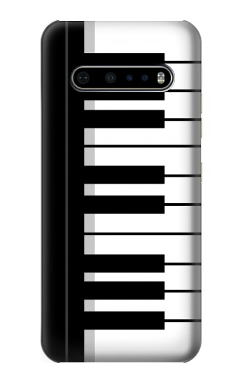 Printed Black and White Piano Keyboard LG V60 ThinQ 5G Case